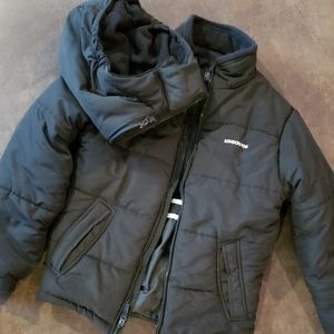 Boys black puffy coat size 14/16